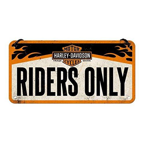 Placa con cadena decorativa Harley Davidson Riders Only