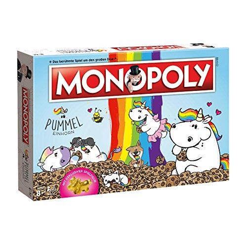 Monopoly Pummeleinhorn Collector's Edition Brettspiel | mit goldener Figur | Einhorn Spiel | Deutsch NEU (ohne Zusatzartikel)