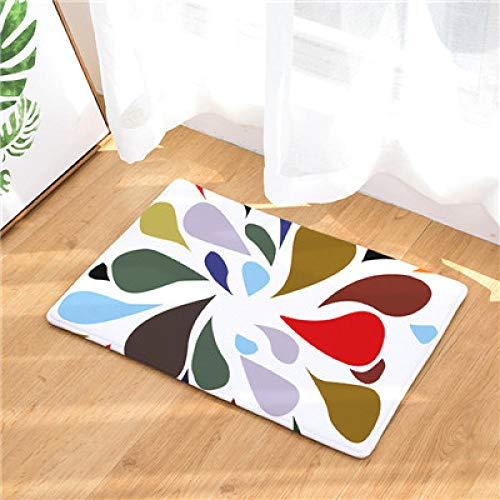 Badematten & Badteppicheder Heimtextilien-Teppich Mit Streifendruck Hat Keinen Verschiebbaren Küchenteppich Für Die Bodenmatte Des Wohnzimmers (1_50X80 Cm)
