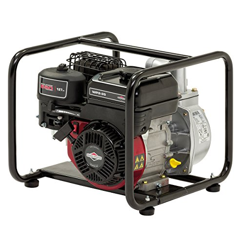 "Briggs and Stratton 2""/50mm Elite Petrol Water Pump WP2-35 featuring 435 litre/min, 8m vertical suction and 550 Series OHV engine, Black"