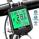 BACKTURE Fahrradcomputer, 19 Multifunktions Drahtloser Wasserdichter Fahrrad Tachometer Kilometerzähler Auto Aufwecken LCD Hintergrundbeleuchtung