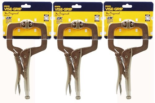 Irwin Vise-Grip 11SP(20) 11-Inch Locking Clamp with Swivel Pads (3 Pack)