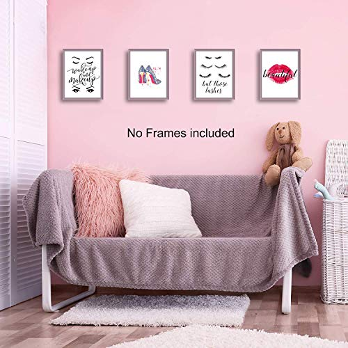 CHDITB Motivational Inspirational Lettering Quote Fashion Woman Art Print Set of 4 Posters 8