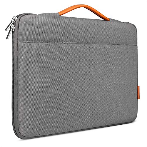 Inateck 13-13.3 Inch Laptop Sleeve Case Bag Briefcase Compatible with 13 Inch MacBook Air 2010-2020, MacBook Pro 13 2012-2019/2020, MacBook Air/MacBook Pro M1 2020, Surface Pro X/7/6/5/4/3 - Gray
