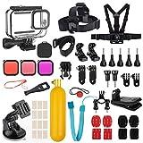 Kupton Kit Accessori Bundle per GoPro HERO9 Black, Carcasa Protectora +Filtri per Immersioni +...