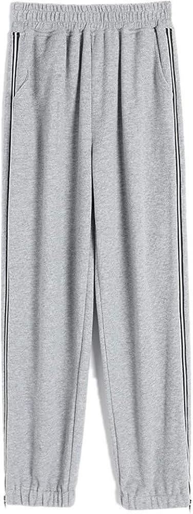 NP Grey Sports Pants Women's Loose Legged Spring Casual Pants Show Thin Wide Leg high Waist Zipper Pants