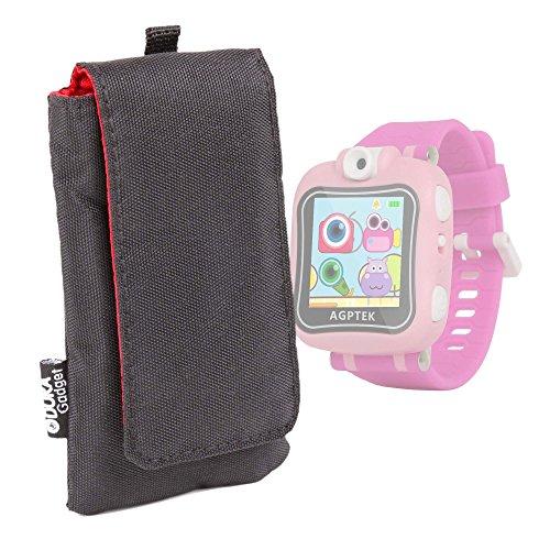 DURAGADGET Funda Acolchada Negra/Roja para AGPtek W6 Reloj Inteligente para niños - Resistente Al Agua