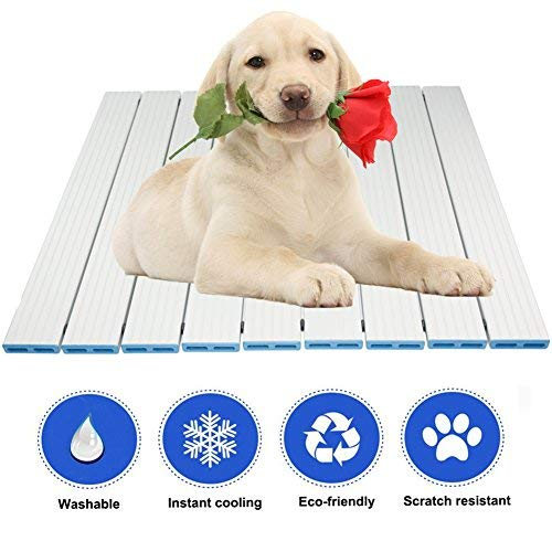 RIOGOO Pet Cooling Pad, Self Dog Cooling Indoor Mat