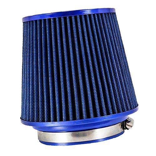 Mini Filtro Cónico de Entrada de Aire Frío de Coche de Alto Flujo de 76mm 89mm 101mm Azul