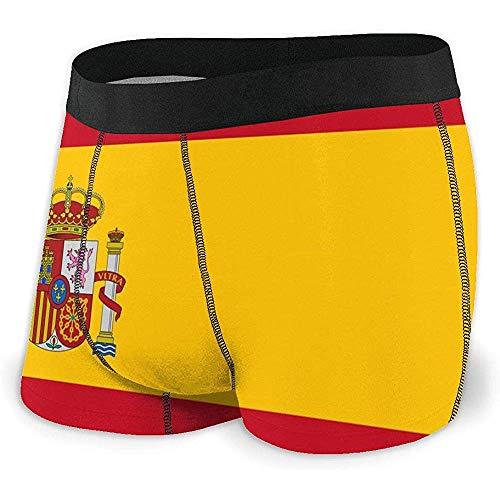 Web--ster Bandera de España Calzoncillos Boxer para Hombre Ropa Interior cómoda Absorbente con Cintura elástica Talla XL