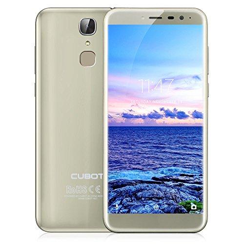Cubot X18, Smartphone ohne Vertrag, Dual SIM 5.7 Zoll HD+ Edge Display, 3GB Ram, 32GB Speicher, 16MP+13MP Dualkamera, Android 7.0, MTK6737T Quad Core CPU, 3200 mAh Akku,Fingerabdrucksensor