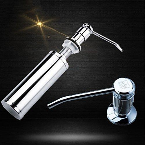 NYDZ Zeep Dispensers spoelbak zeep dispenser met vloeibare wasmiddel flessen accessoires koperen kop roestvrij stalen fles