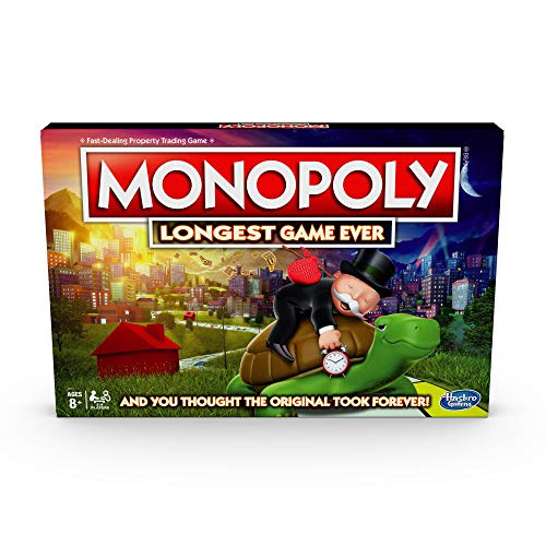 Monopoly Longest Game Ever, Classic Gameplay with Extended Play; Board Game (Amazon Exclusive) for...