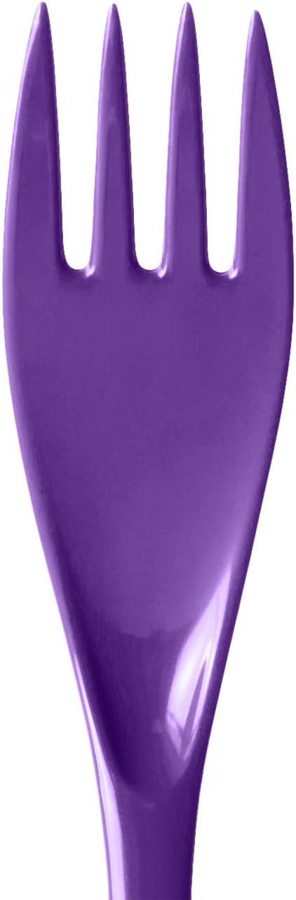 Hutzler 3500-12CB Melamine Utensil Set, Full, Cobalt Blue Purple