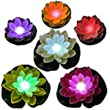 ARDUX LED Floating Lily Light Color Changing LED Light up Floating Lily pad, Water Floating LED Lily Light, Lotus Light illuminates centerpieces, Ponds, Pools or Fish Tank (Color-Changing Lily Light)