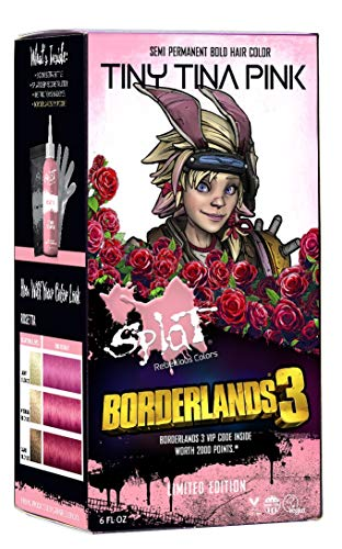 Splat | Borderlands 3 | Tiny Tina Pink Hair Color with No Bleach | Hair Dye Kit | Semi-Permanent | 30 Wash | Vegan and Cruelty-Free