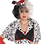 Suit Yourself Cruella De Vil Shrug for Adults, 101 Dalmatians, Halloween Costume Accessory, One Size