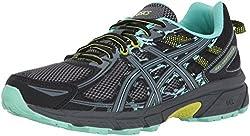 in budget affordable ASICS Gel Venture 6 Women's Shoes, Black / Carbon / Neon Lime, 8.5 Medium US