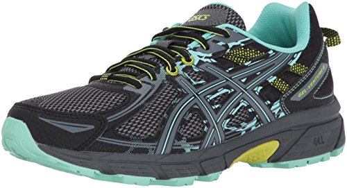 ASICS Women's Gel-Venture 6 Running-Shoes,Black/Carbon/Neon Lime,8.5 Medium US