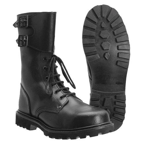 Miltec - Botas militares de piel, del ejército francés, negro (negro), 46