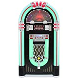 MonsterShop - Jukebox Años 50 con Vinilo, CD, USB, Bluetooth, SD/MMC Memory Card, Radio FM y AUX 128cm x 64cm x 38cm