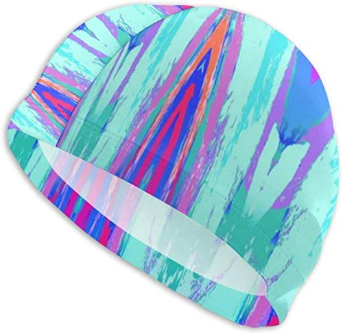 forihifngjnjyhk Bonnet de Bain, Swim Cap Hat Abstract Painting Bathing Cap for Long Hair Women and Men