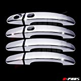 A-PADS 4 Chrome Door Handle Covers for Ford ESCAPE 2013-2014 & FOCUS 2012-2016 - WITH Smart Keyholes & WITHOUT Passenger Keyhole
