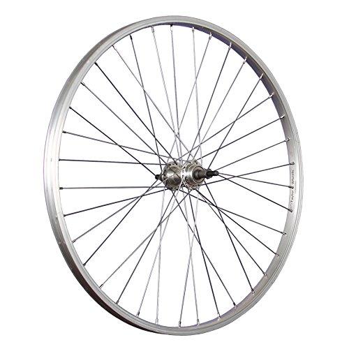 Taylor-Wheels 26 Zoll Hinterrad Laufrad Büchel Alufelge/Schraubkranznabe 6/8-fach - Silber