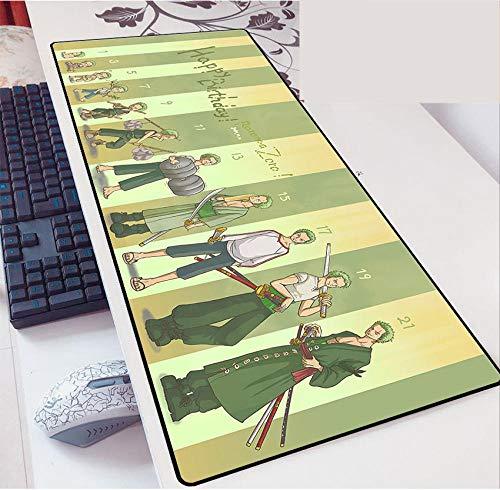 Alfombrilla de Ratón One Piece Speed Gaming Mouse Pad | XXL Mousepad | Tamaño de 900 x 400 mm |Base de 3 mm de Grosor | Precisión y Velocidad-D_700*300 * 3mm