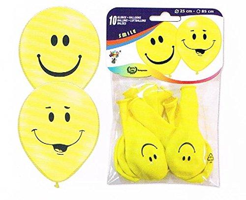 Globos Festival 30 Luft-Ballon-s Smily-s (25 cm) Kinder-Geburtstag-Fete-lachen-Happy-Birthday-EU Ware ! Keine billige China Ware - Nicht gesundheitsschädlich