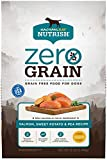 Rachael Ray Nutrish Zero Grain Natural Dry Dog Food, Salmon & Sweet Potato Recipe, 12 Pounds, Grain Free (Packaging May Vary)