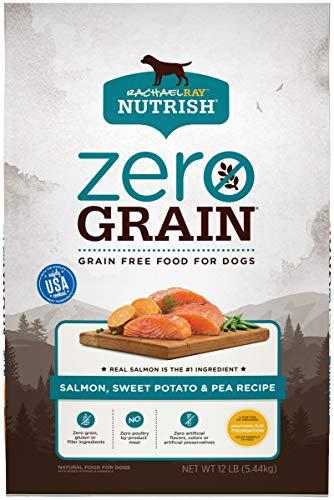 Rachael Ray Nutrish Zero Grain Natural Dry Dog Food, Salmon & Sweet Potato Recipe, 12 Pounds, Grain Free