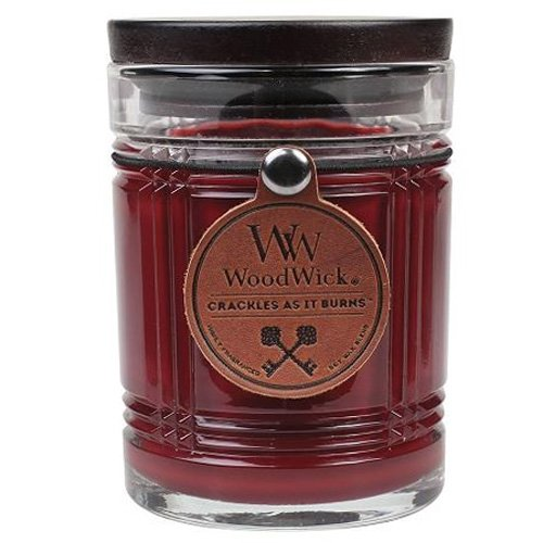 WoodWick Reserve Collection Crackling 8.5 Ounce Scented Candle, Mahogany