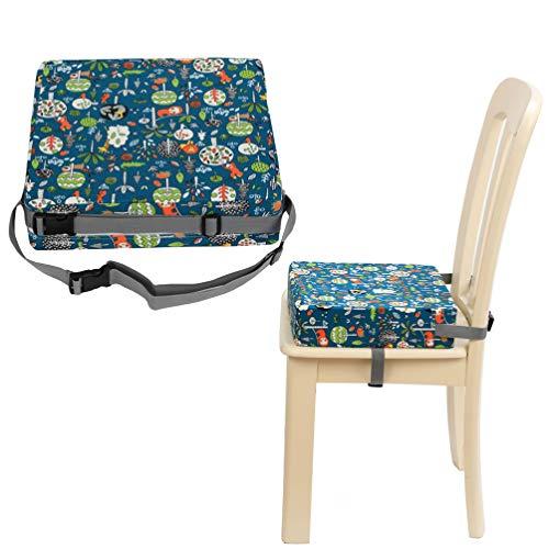 Tomaibaby 1 Pz Bambini Sedia da Pranzo Cuscino Crescente Bambino Portatile Smontabile Seggiolone Cuscino di Rialzo (Verde)