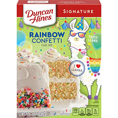 Duncan Hines Cake Mix, Confetti, 432 g