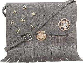 MUSKLINE Womens Handbags, Sling Bags (SILVER)