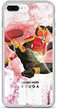 iPhone 7 Plus/8 Plus Case Anti-Scratch Motion Picture Transparent Cases Cover Illustration of Kamen Rider Kuuga Inspired Action Movies Video Film Crystal Clear