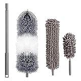 Plumero de plumas de microfibra chenilla flexible cabeza extensible 98 pulgadas herramienta de limpieza de techo nuevo nuevo