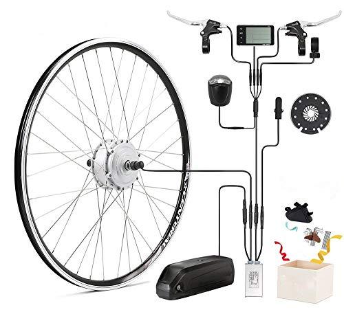 "SEASON Umbausatz E Bike 36V 250W 26"" Motor in Silber Ebike Conversion Kit Frontmotor für Elektrofahrrad mit LCD Display"