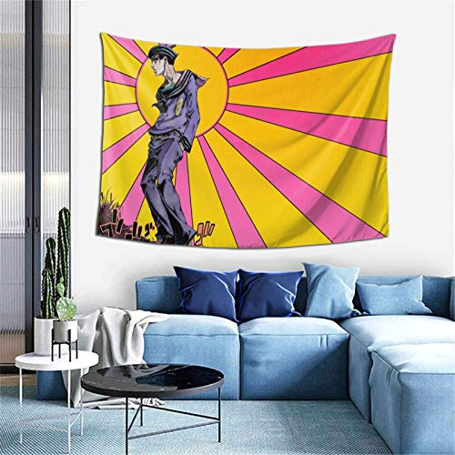 INNISFROG JoJo's Bizarre Adventure Tapestry Wall Hanging Poster,Mural Wall Art Wall Decoration Fabric Hanging for Anime Gifts Bedroom Birthday Party Decor (60x40inch)