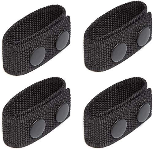 Lixada 4 x Sicherheitsgürtelhalter mit doppelten Druckknöpfen für 5,1 cm breiten Gürtel, Sicherheitsgürtel, Polizei, Militärausrüstung, Zubehör