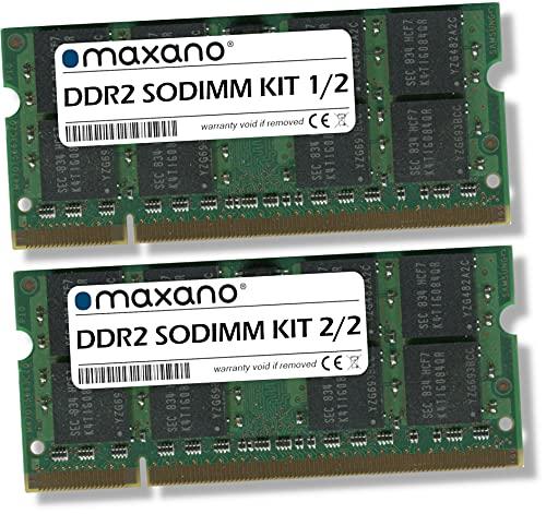 Maxano 4GB Kit (2x2GB) RAM passend für Toshiba Satellite L300 DDR2 667MHz SODIMM Arbeitsspeicher