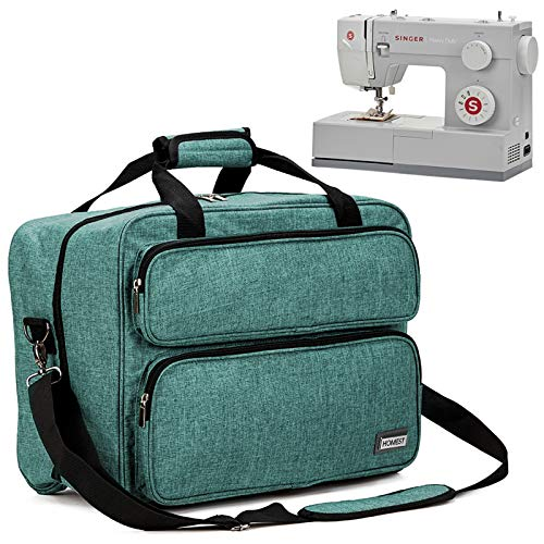 HOMEST Sewing Machine Carrying Case, Universal Tote Bag with Shoulder Strap Compatible with Most Standard Singer, Brother, Janome, Green (Patent Design)