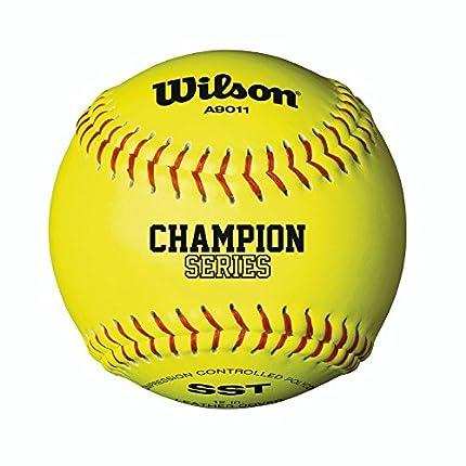 Wilson A9011 Baseball/Softball, Unisex Adulto, Yellow, 12