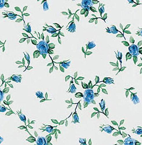 Klebefolie - Möbelfolie Rombo Blumenranken blau selbstklebend - 45 cm x 200 cm moderne Selbstklebefolie Folie Dekorfolie mit Blumen Motiv