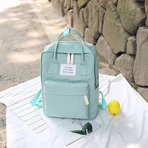 REBKW Campus - Mochila escolar para mujer para niñas, bolsa de hombro de lona para mujer, mochila para ordenador portátil, mochila de nailon Mochila, color verde