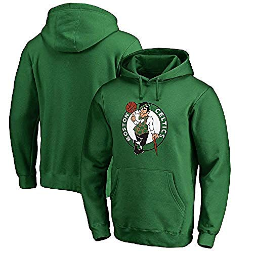 Bkckzzz 3D Printed Art Couples NBA Herren Hoodie Boston Celtics Basketball Loose Jersey Grün Grau Bequemes Langarm T-Shirt Größe S-3XL @ M_Green