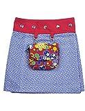 Sunsa Mädchen Rock Minirock Wende Wickelrock Sommerrock kurz, Baumwolle Mädchenrock Skirt, 2 Kinder Röcke in einem, mit Abnehmbarer Tasche, Größe verstellbar Coole Sachen/Geschenke 15718