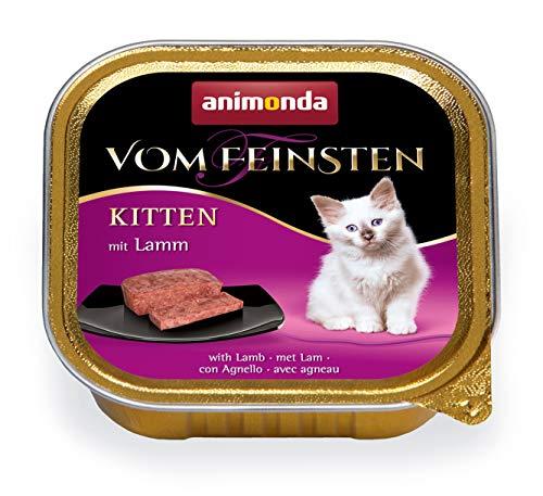 Vom Feinsten Kitten d'animonda, nourriture humide pour chat en pleine croissance durant sa première année de vie, à l'agneau, 32 x 100 g