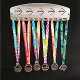 ZHXY Medallero Colgador de medallas Desconocido Soporte de medallas Deportivas para Corredores,medallas,Expositor de medallas,para Maratón,Correr,Carrera,medallas Deportivas Acero Inoxidable